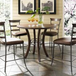 Tall Round Kitchen Table And Chairs Back Pain Office Chair 5 Piece Counter Height Ladder Stools