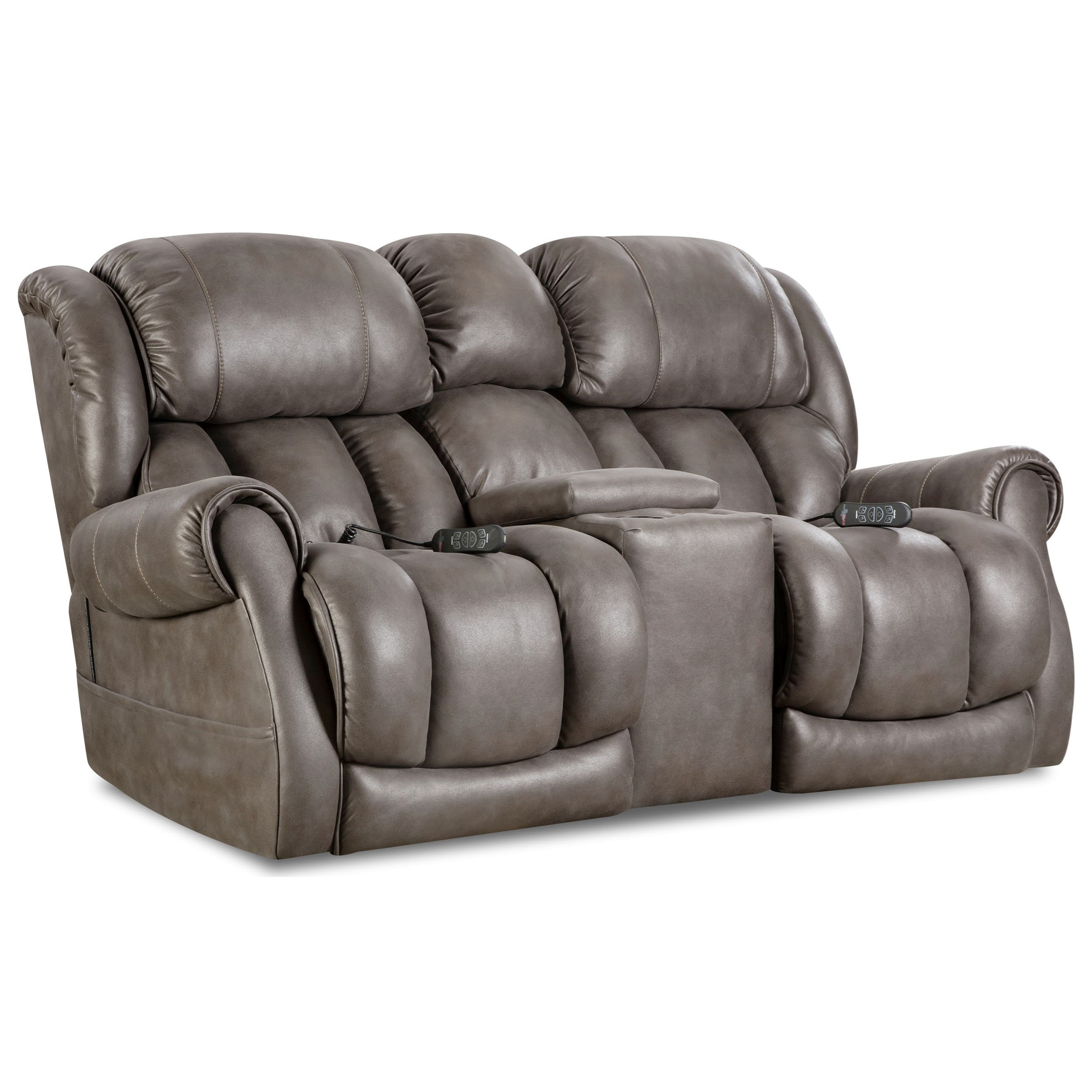 power reclining sofa with cup holders hotel istanbul expedia casual console loveseat