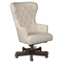 Chair Arm Table Attachment Lazy Boy Big And Tall Office Instructions Larkin Oat Home With Tufted Back By Hooker