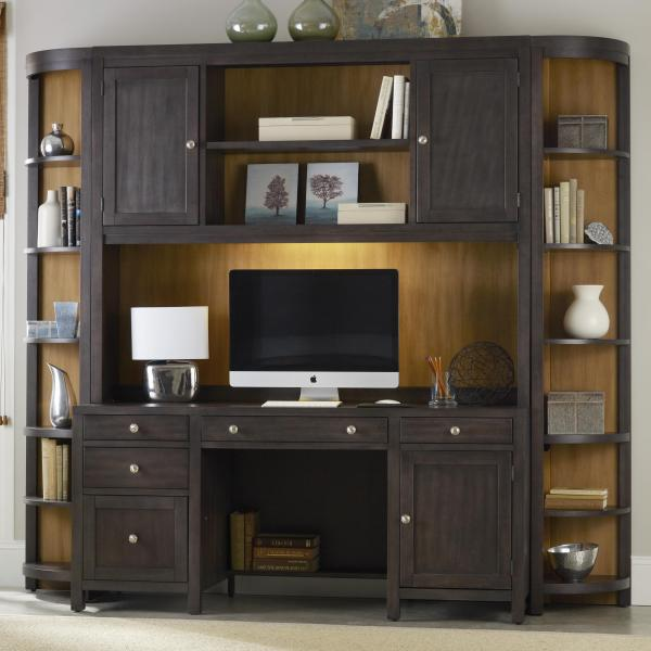 Computer Wall Units with Desk