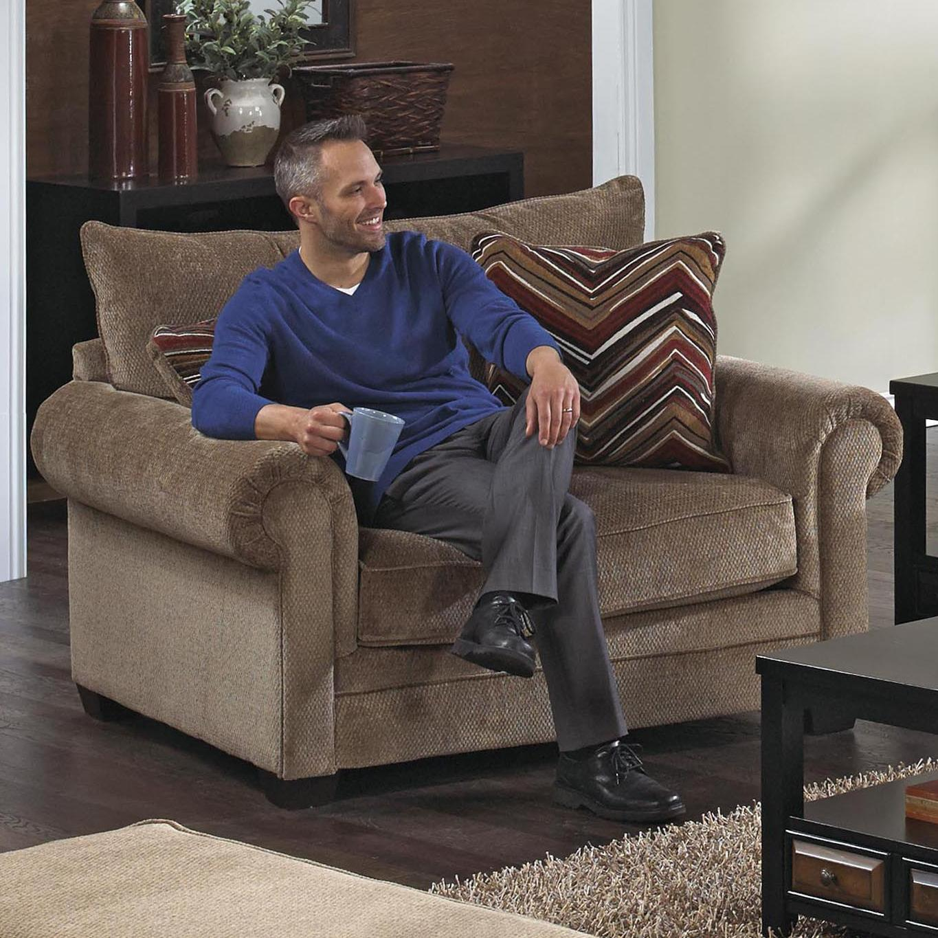oversized arm chair king tut rolled by jackson furniture wolf and