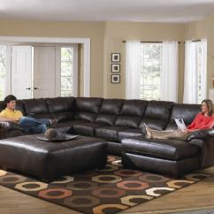 Huge Leather Sectional Sofa Murphy Beds Extra Large Seven Seat By Jackson Furniture