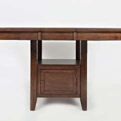 High Kitchen Table With Storage Islands For Small Kitchens Low Base By Jofran Wolf And