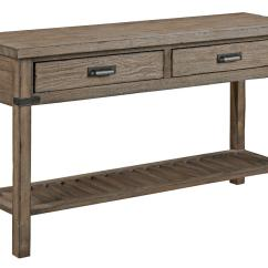 Rustic Gray Sofa Table Compact Sectional Chaise Weathered By Kincaid Furniture