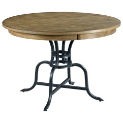 Dining Table With Metal Chairs Doll Hair Salon Chair 44 Quot Round Solid Wood Rustic Base