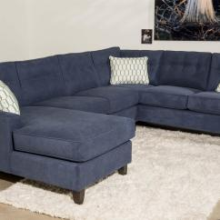 3 Sided Sectional Sofa Art Deco Contemporary Piece With Chaise By