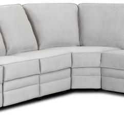 Reclinable Sectional Sofas Sofa Reupholstery Cost Edinburgh Classic Reclining With Rolled Arms By