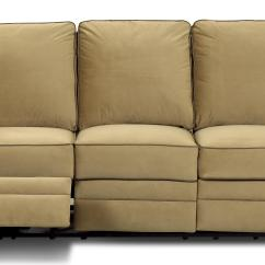 Reclining Sofa Manufacturers Usa Mint Green Leather Set Transitional Dual By Klaussner Wolf And