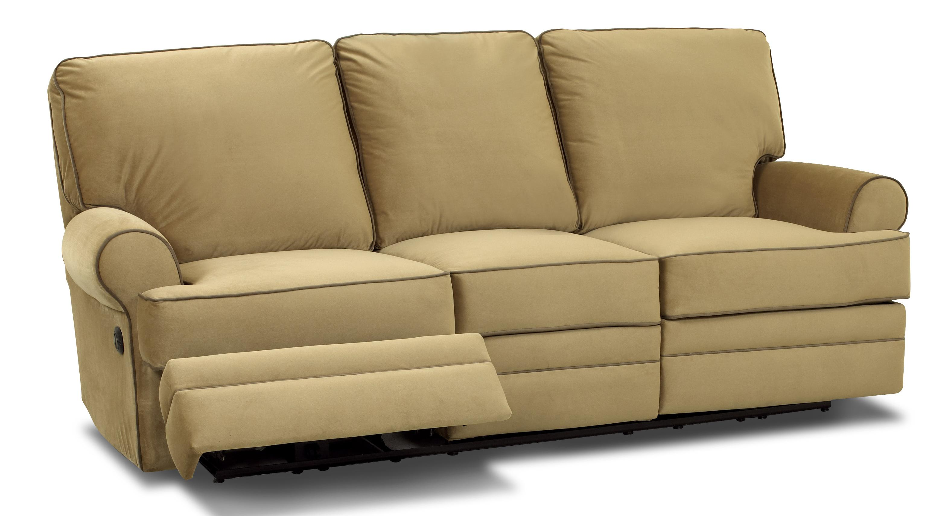 reclinable sectional sofas sofa set designs coimbatore transitional dual reclining by klaussner wolf and