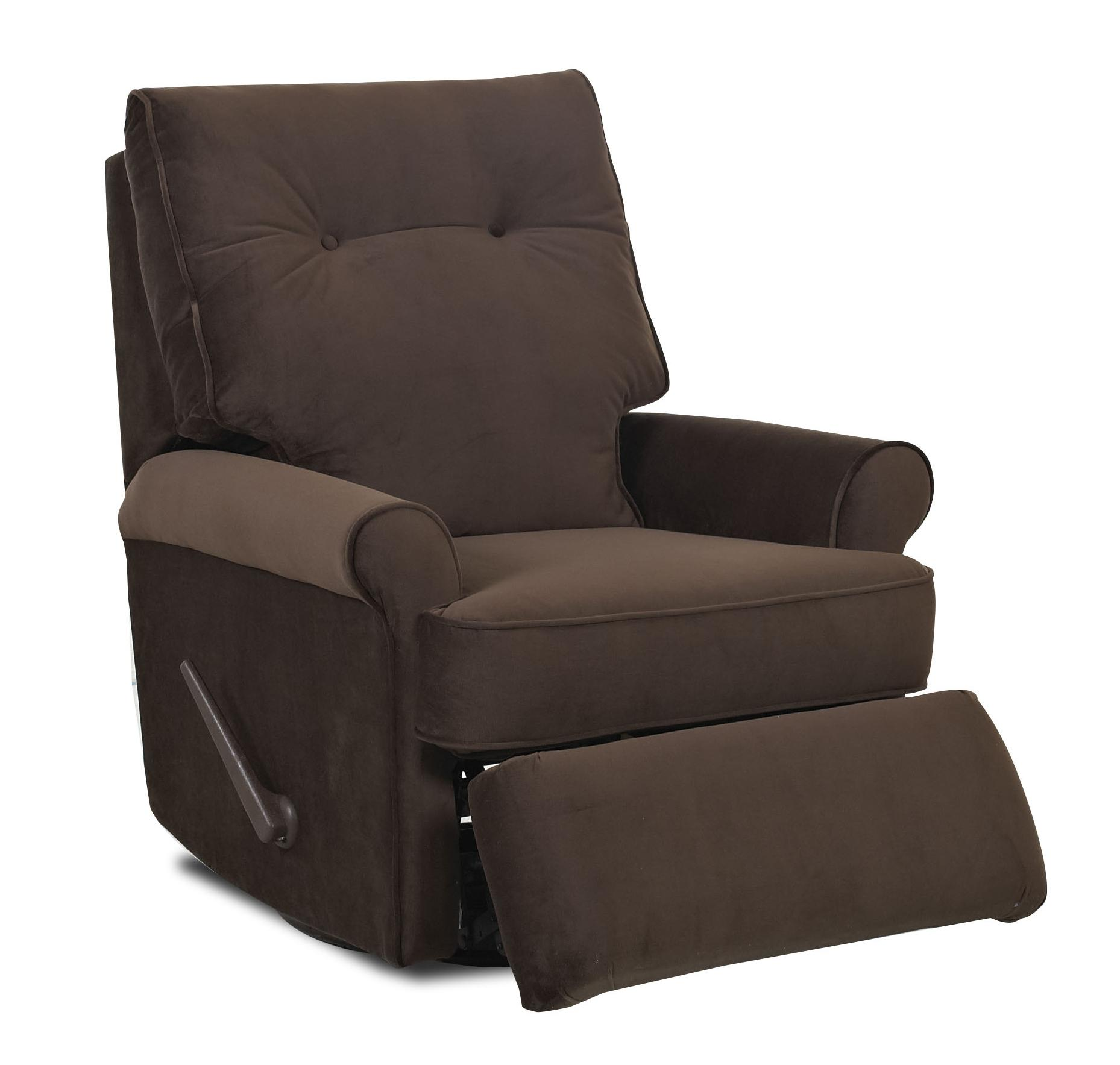 Reclining Rocking Chair Transitional Reclining Rocking Chair With Rolled Arms And