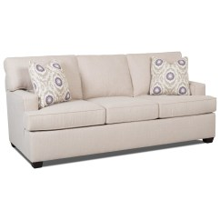 Sleeper Sofa No Arms Rowe Furniture Slipcover Contemporary With Track And Queen Sized