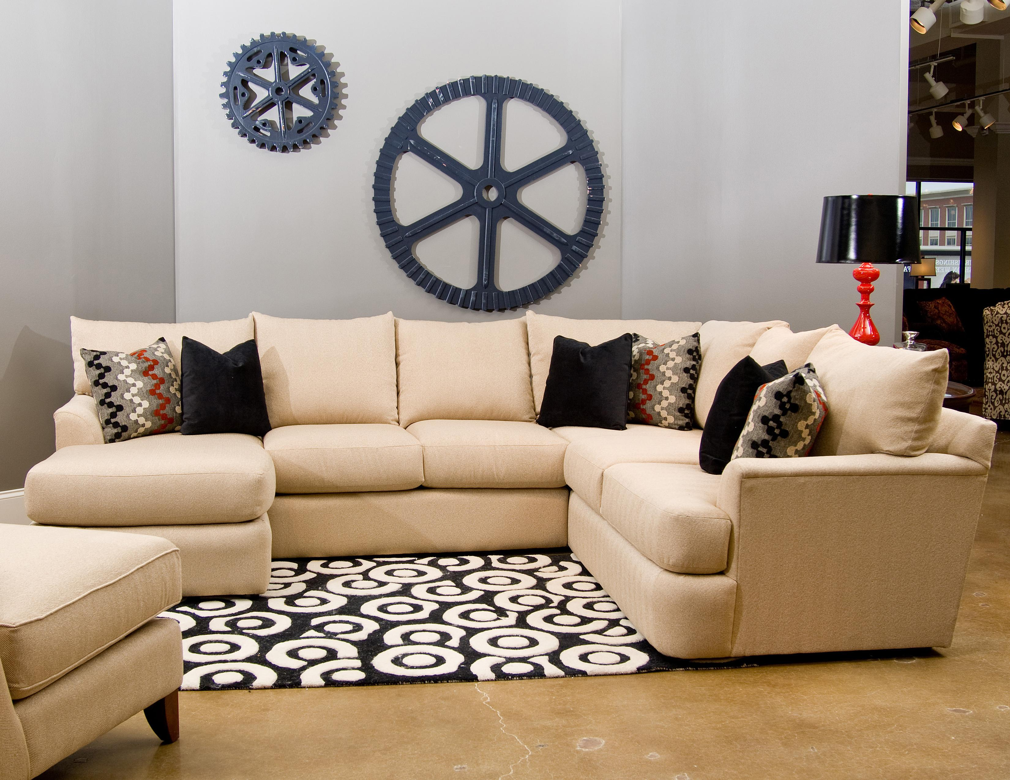 3 sided sectional sofa baxton studio callidora brown leather with left facing chaise side lounger by klaussner