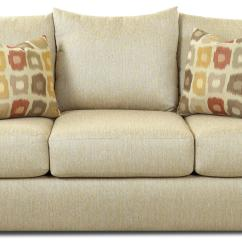 Accent Sofa Pillows Behind Table With Stools Three Over By Klaussner