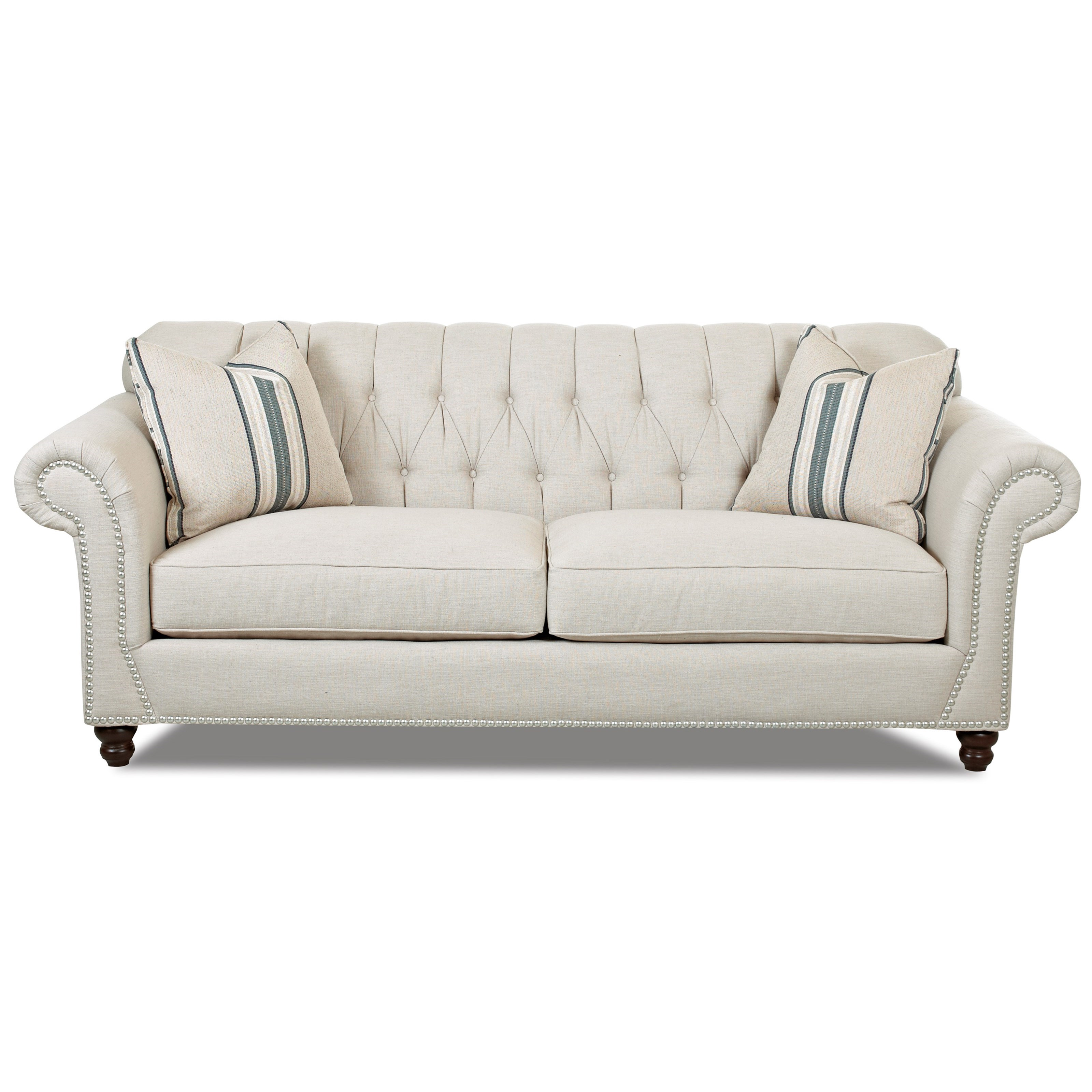 sofa store towson md set designs for living room in kenya traditional with button tufted back, rolled arms and ...