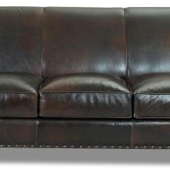 Traditional Leather Sectional Sofas Art Van Sofa Chaise Stationary With Nail Head Trim By