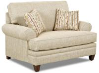 Transitional Oversized Chair with Accent Pillows by ...