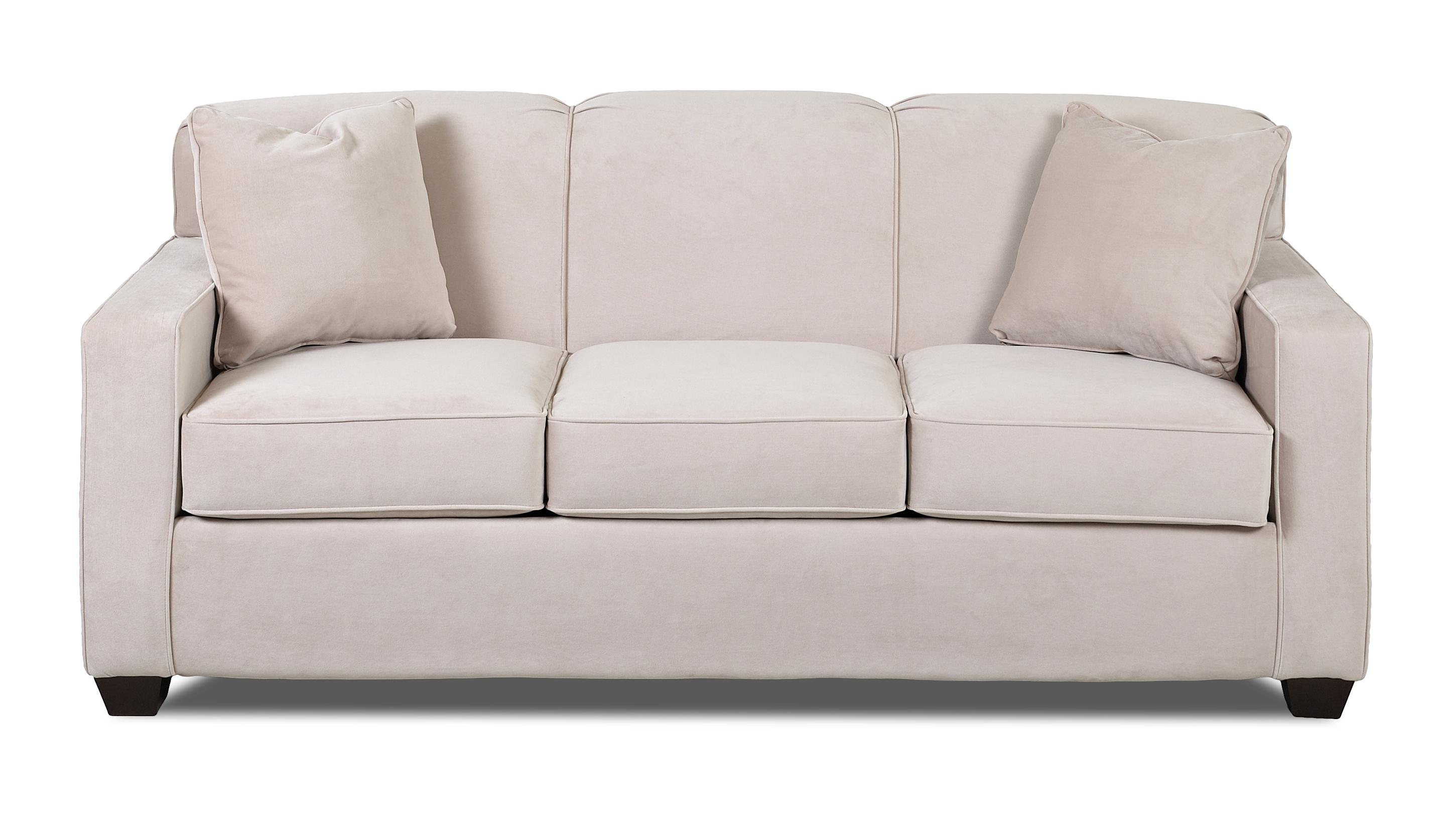 sleeper sofa no arms bergamo sofology contemporary innerspring queen with tight