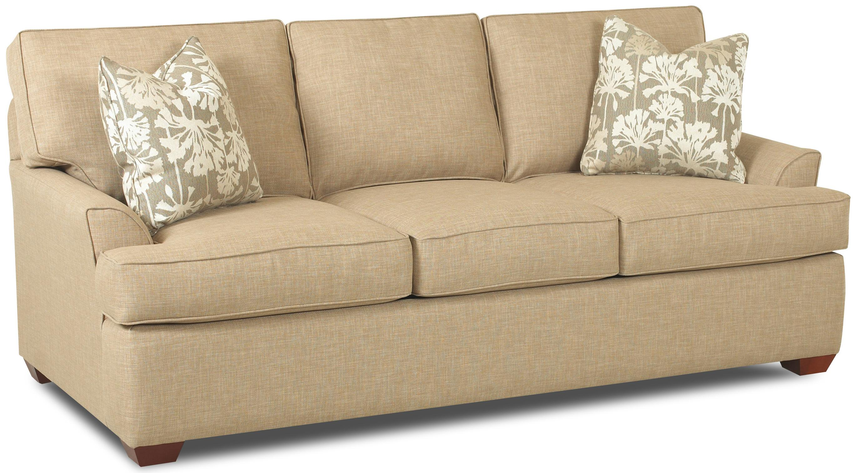 queen sofa bed no arms brooklyn contemporary 3 seat innerspring sleeper with