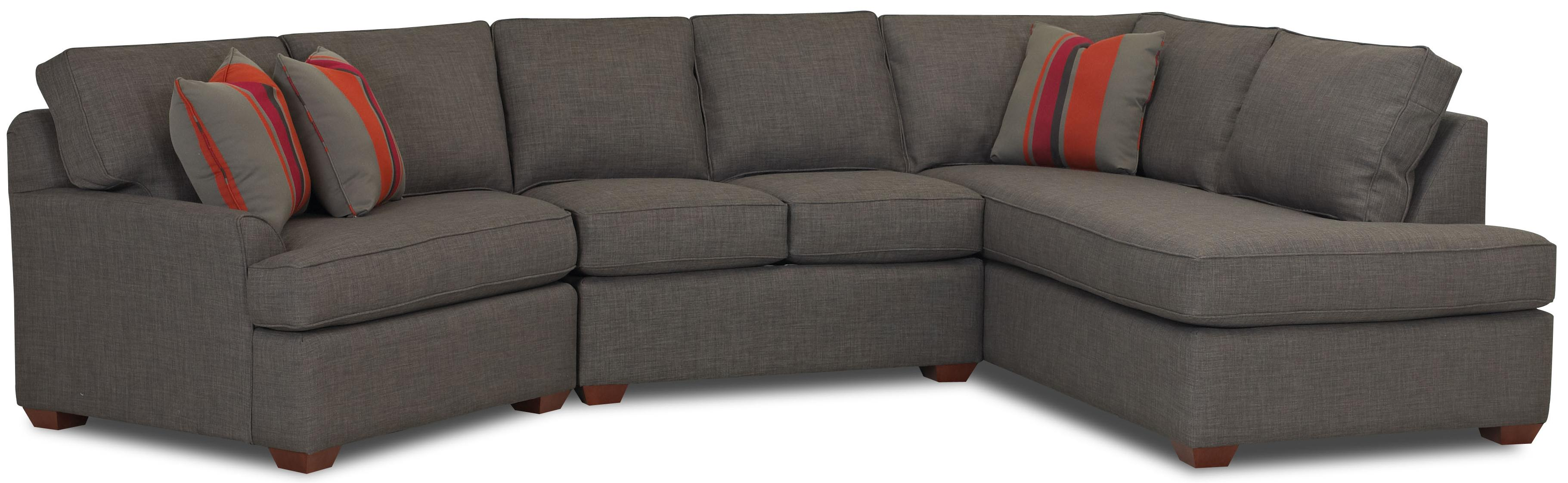 contemporary chaise sofa 60 rv sleeper sectional with right by klaussner