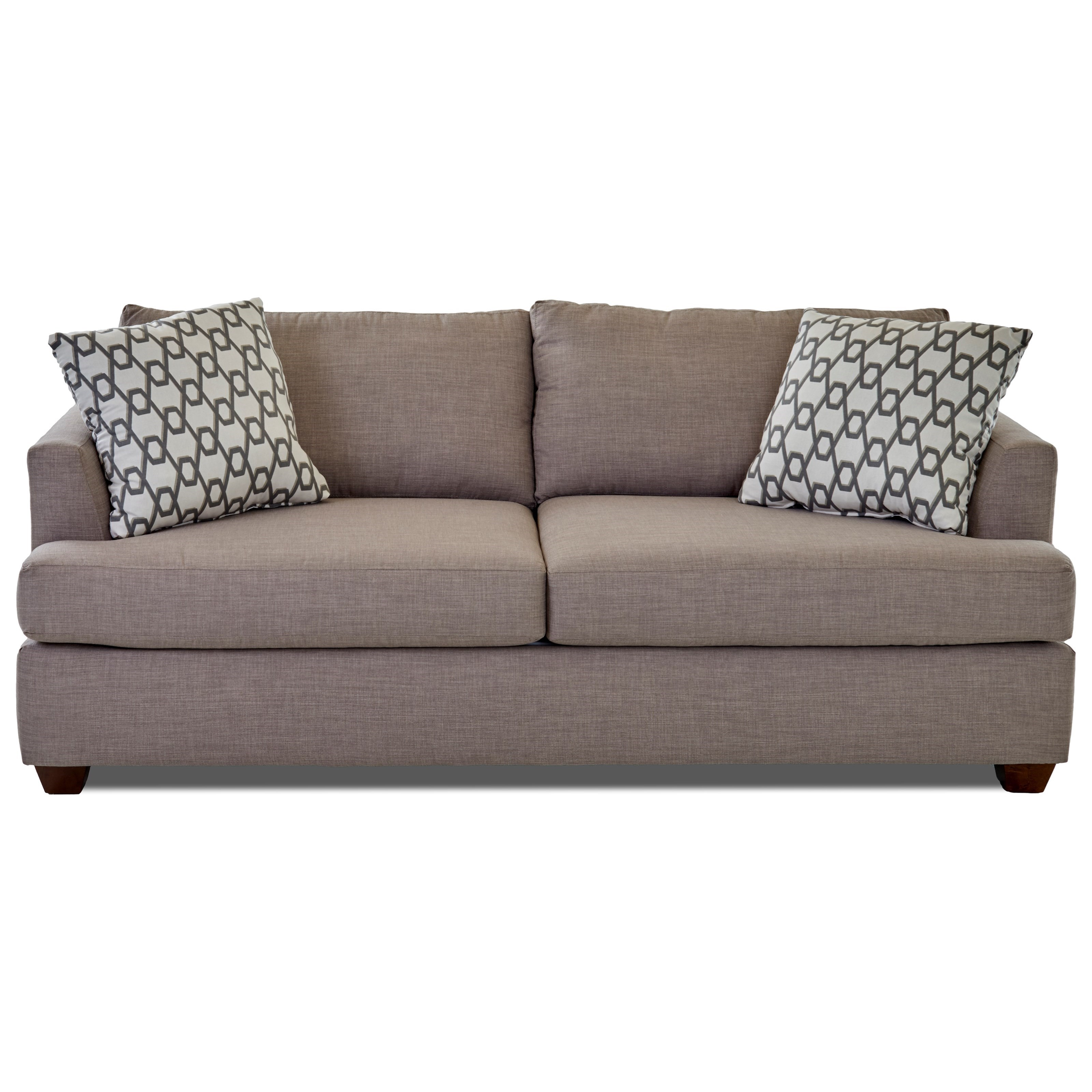 sleeper sofa no arms grey sectional queen inner spring with track by