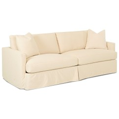 Extra Long Sofa Slipcover Kidney Shaped Uk Large With By Klaussner Wolf And