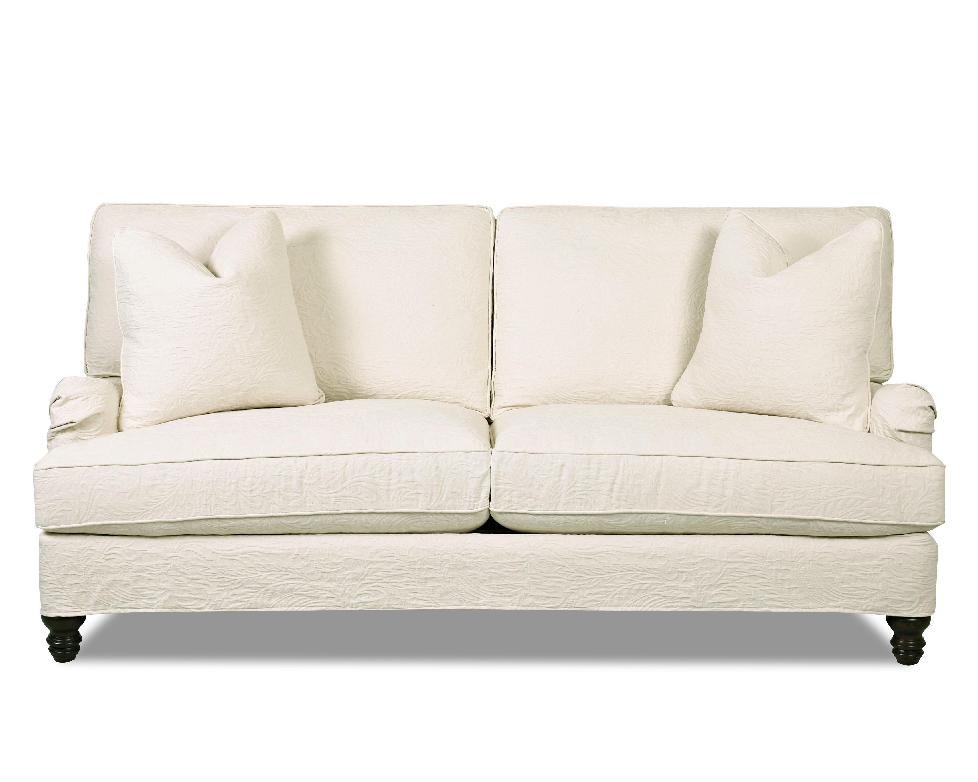 western style sofa covers ashley furniture durablend reclining traditional stationary with slip cover and charles of
