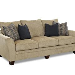 Contemporary Sofas And Loveseats White Wood Sofa Set With Block Feet By Klaussner Wolf