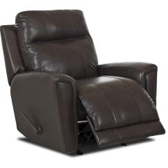 Rocking Recliner Chairs Upholstered Wingback Chair Transitional Swivel Reclining By Klaussner