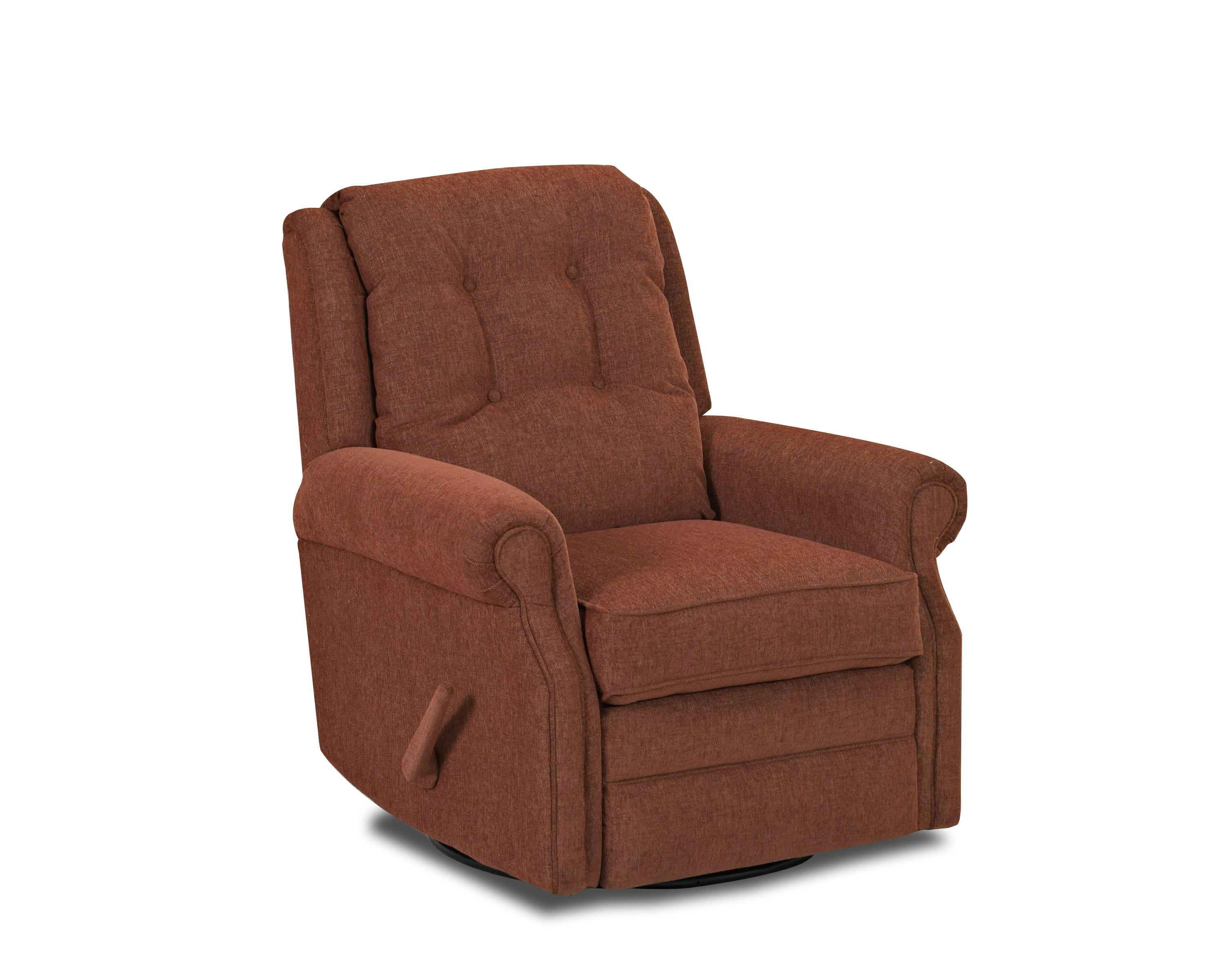 Reclining Rocking Chair Transitional Manual Swivel Rocking Reclining Chair With