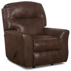 Rocking Reclining Chair High Back Dining Chairs Casual Bonded Leather With Outside