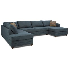 3 Pc Sectional Sofa With Recliners Corner Bed Clearance Three Piece Raf Chaise By Klaussner