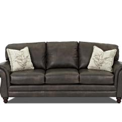 Accent Sofa Leather Corner Sofas With Chaise Pillows By Klaussner Wolf And