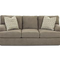 Sofa Cushion Foam Types Couch Vs Davenport Casual With Attached Pillow Back And