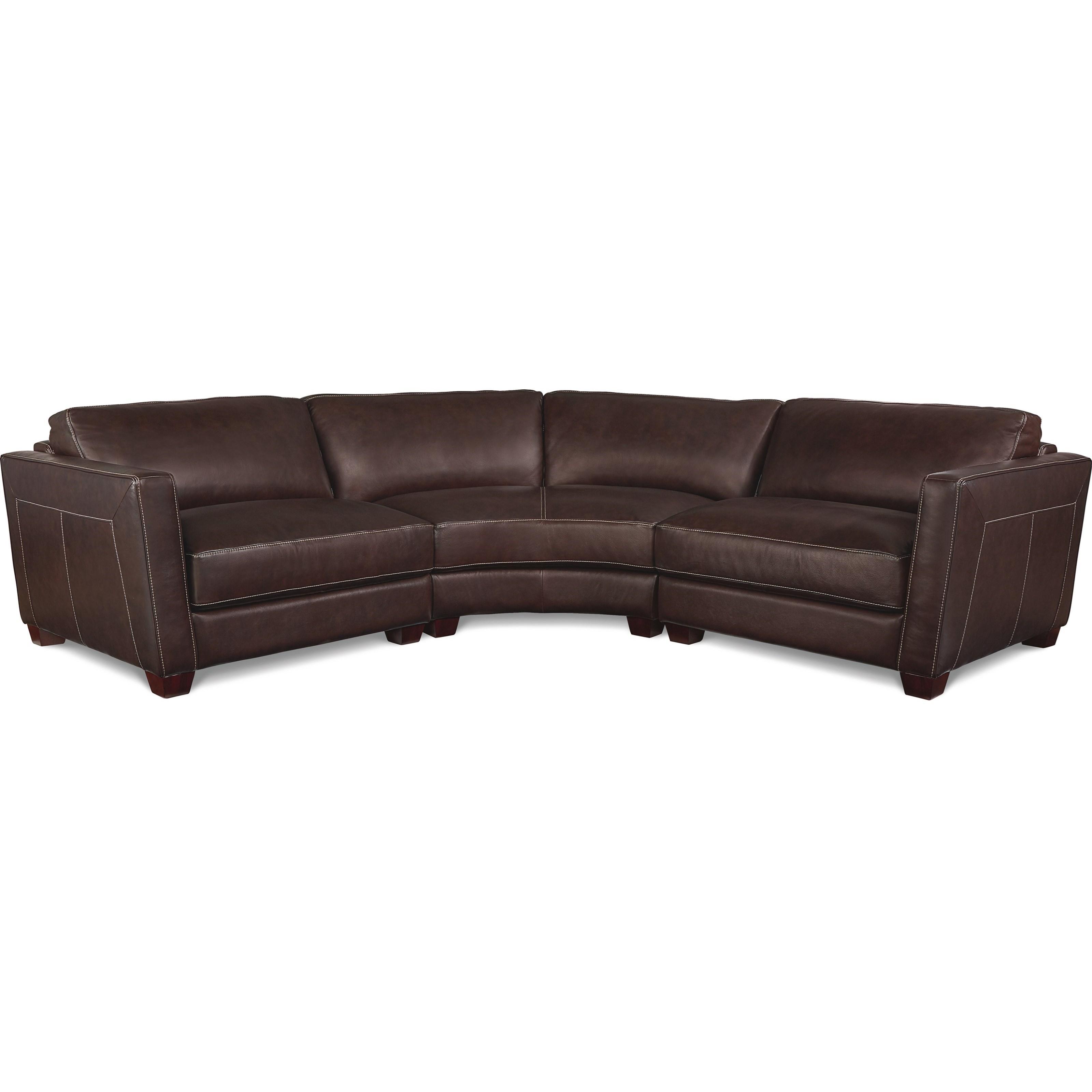3 sided sectional sofa ofertas cama corte ingles three piece curved leather by la z boy