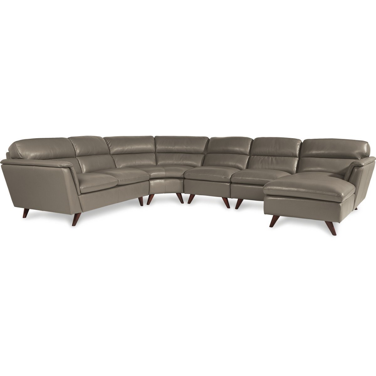left arm sofa sectional leather with recliner 5 pc sitting chaise by la z
