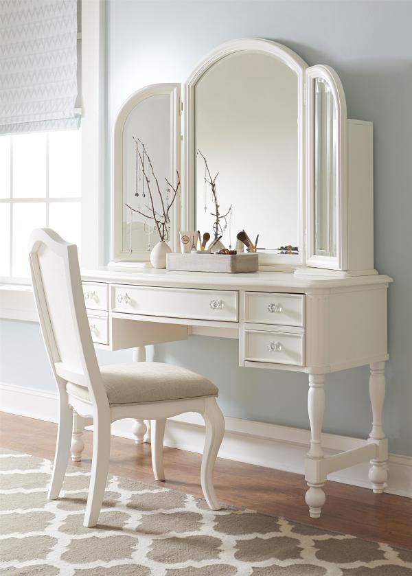 Vanity with Mirror and Shelves