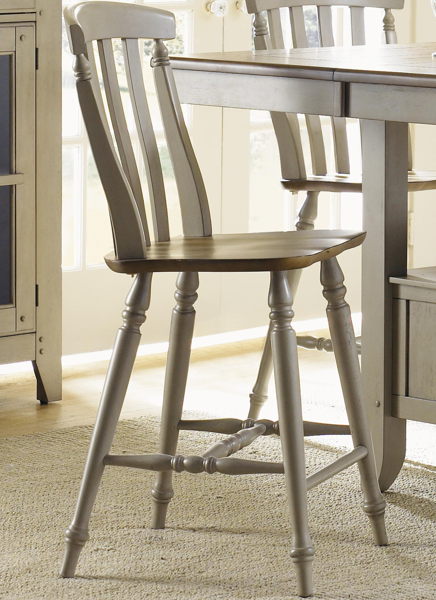 counter height chairs with back chair covers ideas slat by liberty furniture
