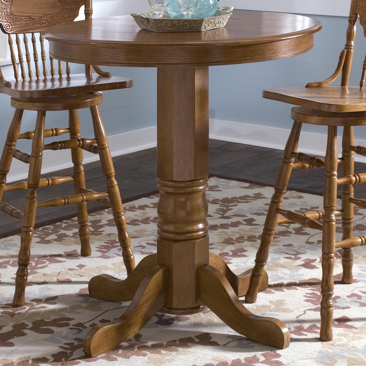 round oak table and chairs chair stool kitchen pub by liberty furniture wolf