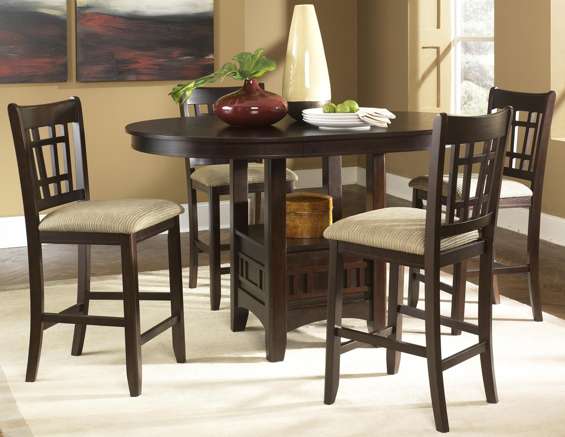 Pub Tables And Chairs Oval Pub Table And 24 Inch Upholstered Bar Stool Set By