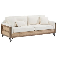 Wooden Sectional Sofa Tv Arrangement Paradigm With Exposed Wood Frame By Magnolia Home