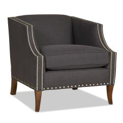 Sam S Club Upholstered Chairs Bistro Patio Contemporary Shelter Back Chair With Nailhead Trim By