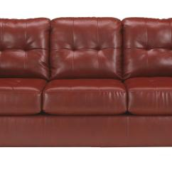 Leather Sectional Sleeper Sofa Queen Armrest Covers Pattern Faux W Tufting By Signature
