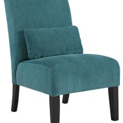 Contemporary Accent Chair Adams Adirondack Armless With Pillow By Signature