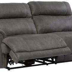 Nailhead Recliner Sofa Bed Mattress Topper 2 Seat Faux Leather Reclining Power With Rolled Arms