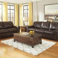 Nailhead Trim Sofa Ashley Mart Furniture Manufacturers Traditional Leather Match With Rolled Arms
