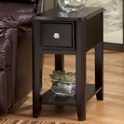 Chair Side End Table Reclining Office With Footrest Dark Brown Contemporary Carlyle Chairside By