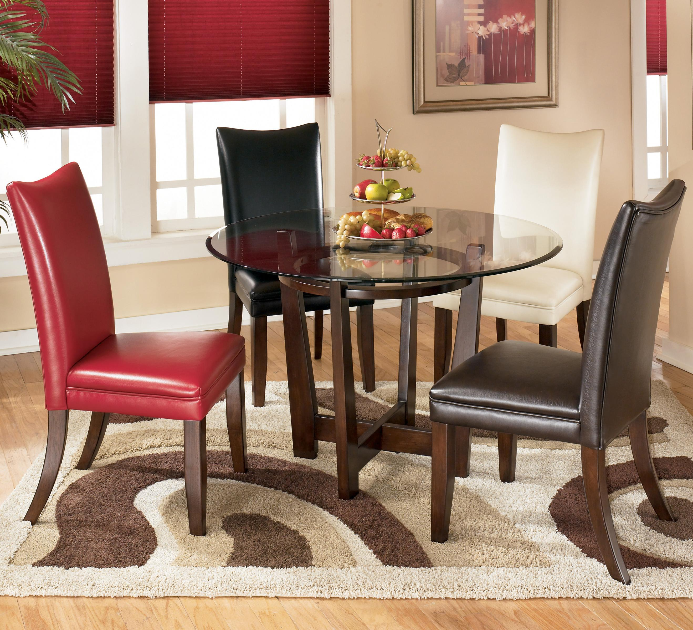 circle table and chair set dining room covers bed bath beyond 5 piece round with 4 different color