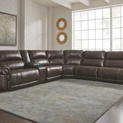 Sectional Recliner Sofas Backless Sofa Crossword Answers 6 Piece Power Reclining With Storage Console