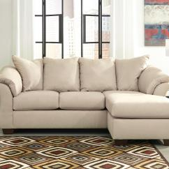 Ashley Cohes Sofa Chaise Seattle Sofas Contemporary With Flared Back Pillows By