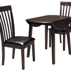 Al S Chairs And Tables Clam Ice Fishing Chair 3 Piece Round Drop Leaf Table Set By Signature Design